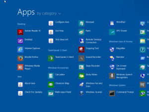 Windows 8.1 App View